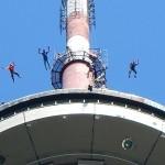 Base Jumping. Таллинская телебашня.