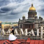 Над большим городом. Санкт Петербург.